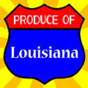 Produce Of Louisiana Shield Art Print