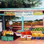 Produce Stand Art Print