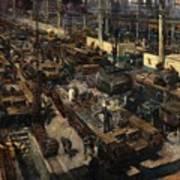 Production Of Tanks Art Print