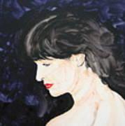 Profile In Purple Art Print