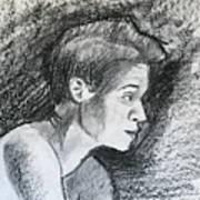 Profile Of A Black Woman Art Print