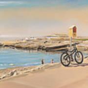 Promenade At Salthill Galway Art Print