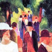 Promenade II By August Macke Art Print