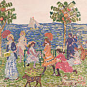Promenade Print by Maurice Brazil Prendergast