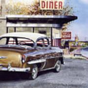 Prospect Diner Art Print