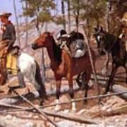 Prospecting For Cattle Range 1889 Art Print