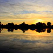 Prosser Sunset - Blue And Gold Art Print