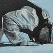 Prostration In Palestine Art Print by Salwa  Najm
