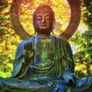 Protection Buddha #2 In Japanese Tea Garden At Golden Gate Park - San Francisco Art Print