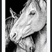 Protection In Black And White Art Print