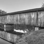 Protection That Works Historic Watson Mill Covered Bridge Art Print