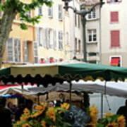 Provence Market Day Art Print