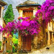 Provence Street Art Print