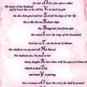 Proverbs 31 Acrostic Art Print