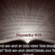 Proverbs106 Art Print