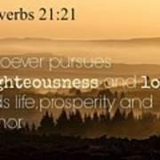 Proverbs109 Art Print