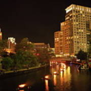 Providence Waterfire Art Print