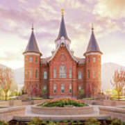 Provo City Center Temple Dawn Art Print