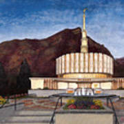 Provo Temple Art Print by Jeff Brimley