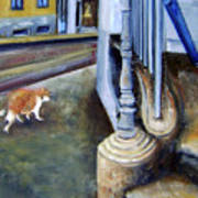 Prowling Cat Art Print