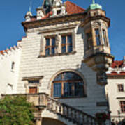 Pruhonice Castle Side View Art Print