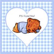 Ps I Love You - Boy Bear Art Print