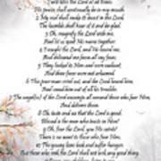 Psalm 34 Pg 2 Art Print