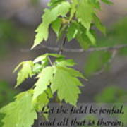 Psalm 96 12 Be Joyful Art Print