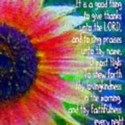 Psalms 92 1 2 Art Print