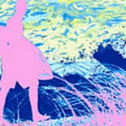 Psychadelic  Beach Art Print