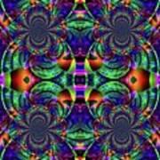 Psychedelic Abstract Kaleidoscope Art Print
