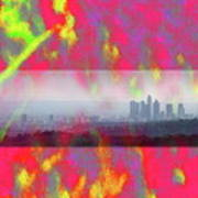 psychedelic energy of Los Angeles Art Print