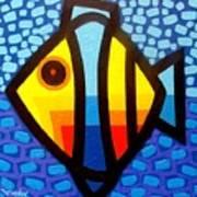Psychedelic Fish Art Print