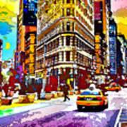 Psychedelic Flatiron Surroundings Art Print
