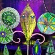 Psychedelic Garden 2 Art Print