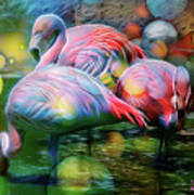 Psychedelic Ibis Art Print