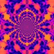 Psychedelic Mandelbrot Set  Kaleidoscope Art Print