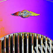 Psychedelic Morgan 4/4 Badge And Radiator Art Print