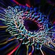 Psychedelic Neon Art Print