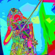 Psychedelic Violinist Art Print