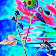 Psycho Daisy Art Print
