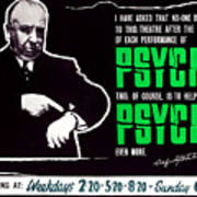 Psycho, Director Alfred Hitchcock Print by Everett