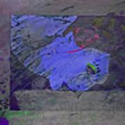 Psychowarhol Blue Art Print