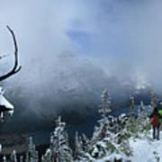 Ptarmigan Trail Overlooking Elizabeth Lake 2 - Glacier National Park Art Print