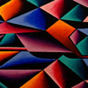 Pterodactyl Cubed Art Print