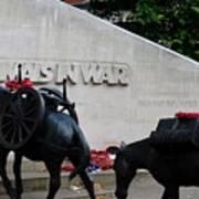 Public Memorial Honoring Military Animals In War London England Art Print
