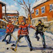 Puck Control Hockey Kids Created By Prankearts Art Print