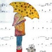 Puddle Hop Art Print