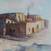 Pueblo After The Rain Art Print