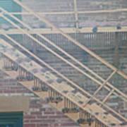 Pueblo Downtown Fire Escape Art Print